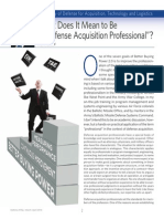 What Does It Mean to Be a Defense Acquisition Professional