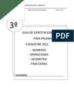 CUESTIONARIO 3º BASICO