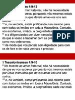 1 Tessalonicenses 4. 9-12