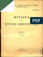 Rivista Degli Studi Orientali Vol I -IV Fasc III - Raffaelle Torella