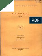 Rauravagama Vol. 1 - N.R Bhatt