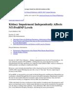 Kidney Impairment Nt Probnp