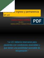 Criterios de Ingreso y Permanencia en Uci