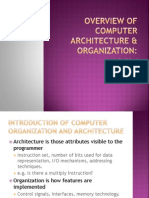 Overview of Computer Architecture & Organization
