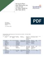 Sunderland City Council Forward Plan 2009-10