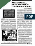 Aproximaciónal desarrollo historico del campo de la politica educativa - Norma Panglianiti