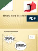 mailing in the u s