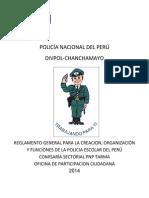 REGLAMENTO GENERAL PARA LA CREACIÓN DE LA POLIICA ESCOLAR