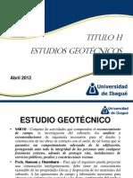 Presentación 1 - Estudios geotécnicos
