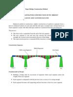 Paper Bridge Construction Method
