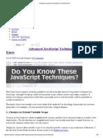 6 Advanced JavaScript Techniques You Should Know