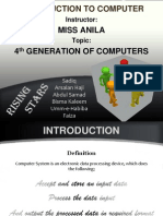 Introduction to Computer Presentation