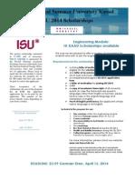 2014ISU ScholarshipsWerbung Engineering