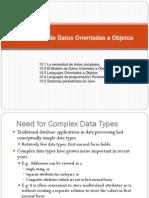 10.Bases de Datos Orientadas a Objetos