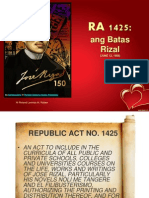 RA 1425 Batas Rizal