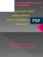 1.- INTOXICACIÓN POR ÓRGANOFOSFORADOS y CARBAMATOS-Dr Octavio Feijóo-2013