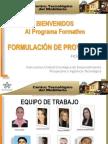 Presentacion Proyecto Formativo Formulac Proyectos Con RSE