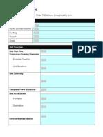 Excel Unit Plan