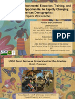 Customizing Environmental Education, Training, and Employment Opportunities to Rapidly Changing American Demographics