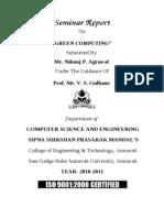 Green Computing Seminar