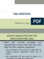 Cba Briefing