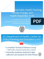 Environmental Public Health Tracking, Climate Change, and Health Disparities in DC