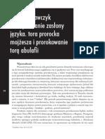 Krawczyk Mikołaj - Zdejmowanie zasłony języka Hermaion 2 2013