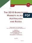 The 2010 Biopesticides Market in Asia, Australasia and Russia- Contents