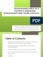Integrating Environmental Justice as a Critical Function in Addressing Environmental Public Health Concerns by Suzanne K. Condon