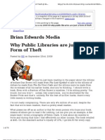 Brian Edwards Public Libraries Are Theft