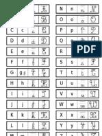 Correspondance Graphisme Alphabet