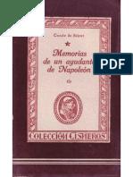 Memorias de Un Ayudante de Napoleon-I