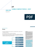 ProcterAndGamble Company Profile SWOT Analysis