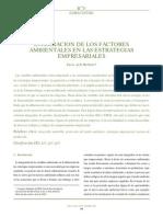 Integracion de Los Factores Ambientales a Las Estrategias Empresariales
