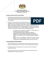 MH370 Press Statement 2.4.14