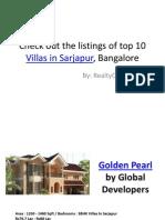 Latest Listings of Villas in Sarjapur, Bangalore