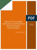Impacto de La Norma Sa8000 en Las Estrategias Institucionales Hospitalarias