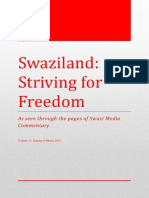 Swaziland Striving for Freedom Vol 13 Jan - Mar 2014