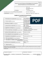 Registos qualificação de soldadura