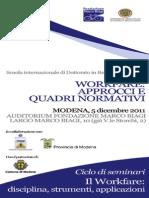 Workfare Approcci e Quadri Normativi 05 Dic