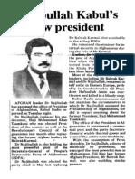 Najibullah President