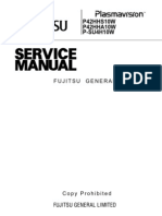 Fujitsu P42HHA10 Service Manual