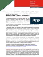 CdA di Finmeccanica ha esaminato relazione comitato Flick. CdA approva inoltre anche il progetto di Bilancio di Sostenibilità 2013