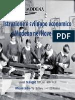 Istruzione e Sviluppo Economico a Modena Nel Novecento 26 Mag Copy