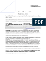 Business Analytics Recommendation Form DrRaut