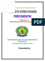 Magneto Hydro Dynamic Power Generation