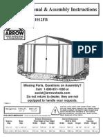 10_12 Arrow Shed Manual