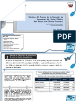 Ranking de Avance de Ejecución de Inversiones del Sector Público Primer Trimestre 2014
