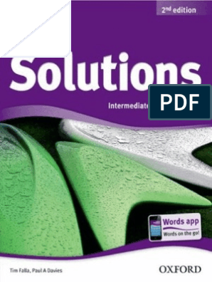 Solutions 2nd Ed Interm Student S Book Surveillance Adjective
