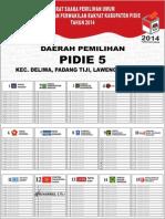 Contoh Surat Suara Pemilihan 2014 Kabupaten Pidie 5 Umum (Muhammad s.th.i)